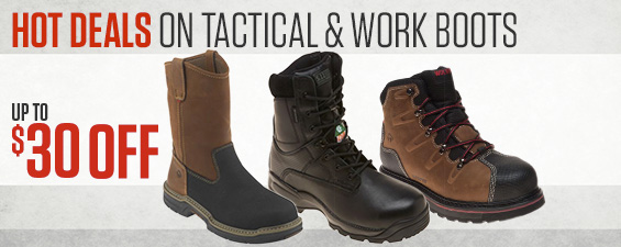 Hot Deals On Tactical & Work Boots. Up to $30 Off.