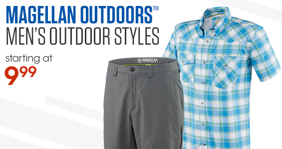 Magellan Outdoors Men's Outdoors Styles Starting at 9.99