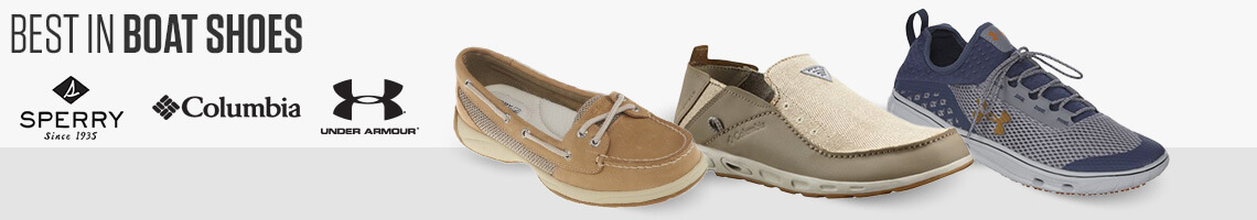 Best In Boat Shoes. Sperry, Columbia, Under Armour