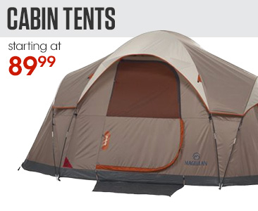 Cabin Tents starting at $89.99