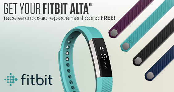 Get your Fitbit Alta receive a classic replacement band for free!