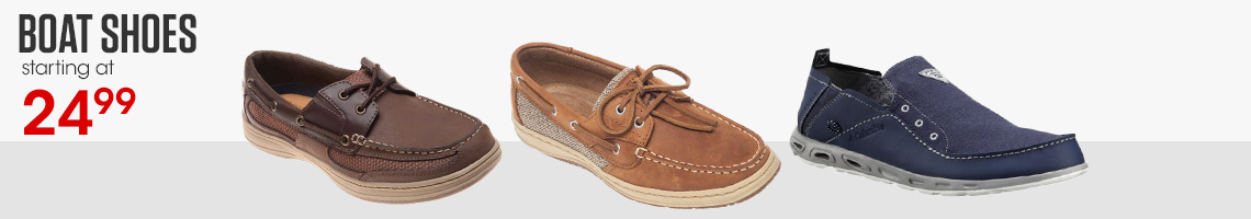 Boat Shoes starting at $24.99