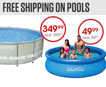 Free Shipping on Pools