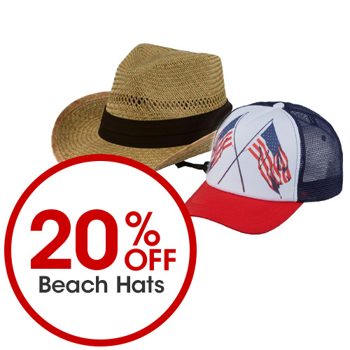 20 Percent Off Beach Hats