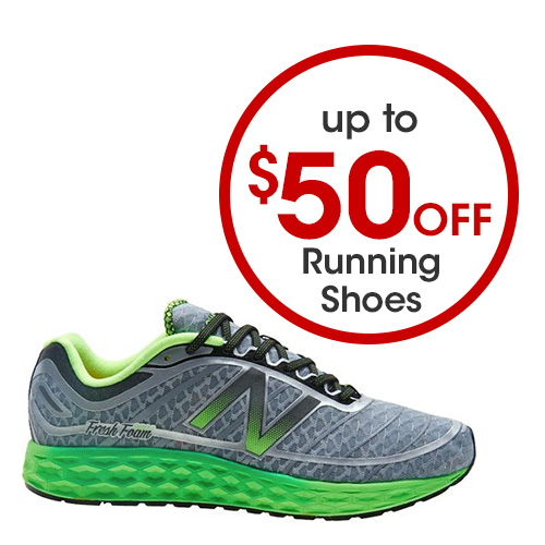 Up to $50 off Running Shoes