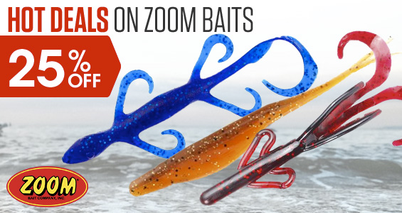 Hot Deals on Zoom Baits. Up to 25% Off
