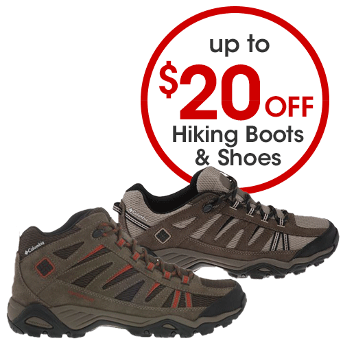 Up to $20 off Hiking Boots & Shoes