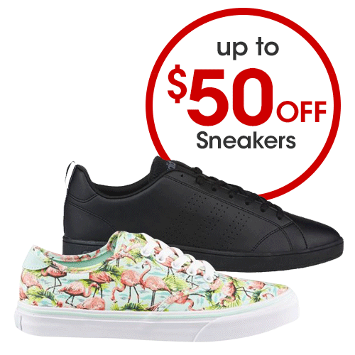 Up to $50 off Sneakers