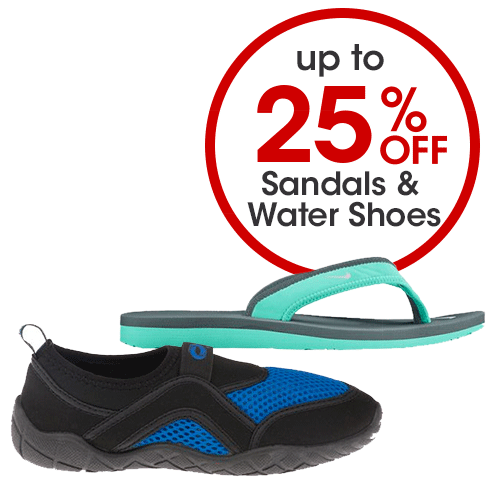 Up to 25% off Sandals & Water Shoes