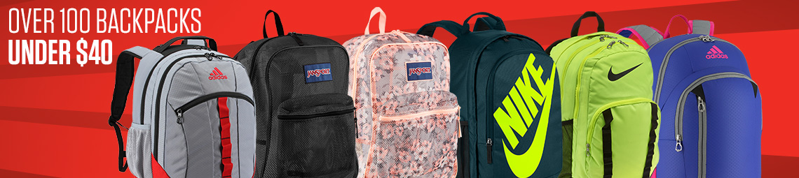 Over 100 Backpacks under $40.