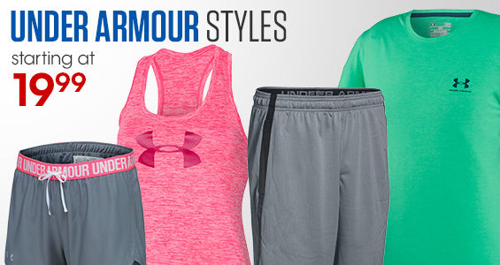 Under Armour Styles. Starting at $19.99.