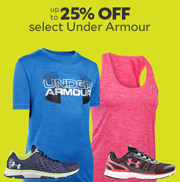 Up to 25% off select Under Armour
