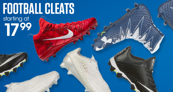 Football Cleats starting at $19.99