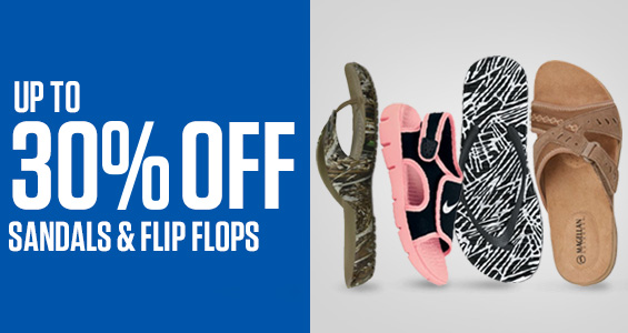 Up to 30% Off Sandals & Flip Flops