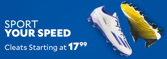 Sport Your Speed. Cleats Starting at $17.99
