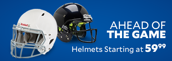 Ahead of the Game. Helmets starting at $59.99