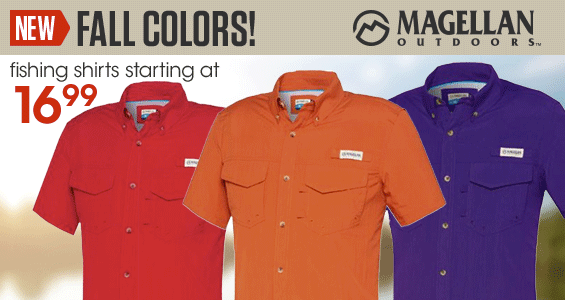 New Fall Colors! Magellan Outdoors Fishing Shirts starting at $16.99