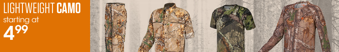 Lightweight Camo Starting at $4.99