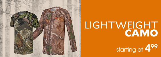 Lightweight Camo startig at $4.99
