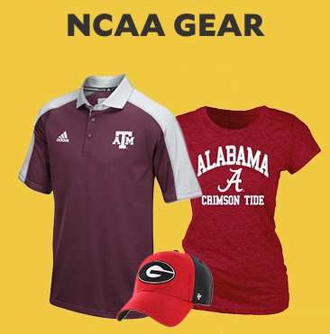 NCAA Gear. Jerseys, Hats, Polos and more