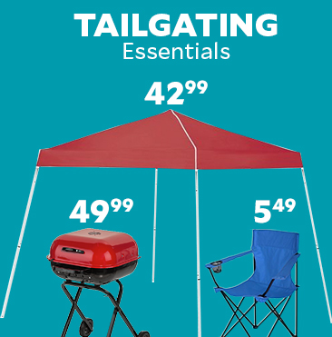 Tailgating Essentials. Academy Sports + Outdoors Easy Shade 10' x 10' Canopy $46.99. Academy Sports + Outdoors Logo Armchair $5.99. Coleman RoadTrip LXE 2-Burner Propane Grill $127.99