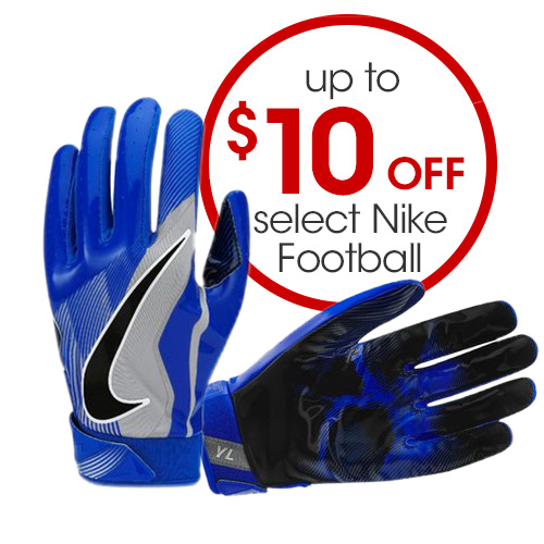 Up to $10 Select Nike Football