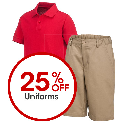 25% Off Uniforms