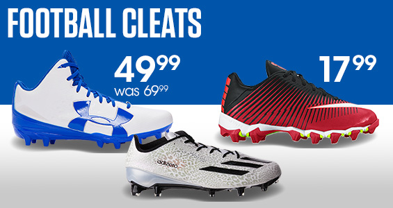 Football Cleats at great prices! Nike Boys' Vapor Shark 2 Football Cleats now $17.99. Under Armour® Men's Fierce Phantom Football Cleats was $69.99, Now $49.99!