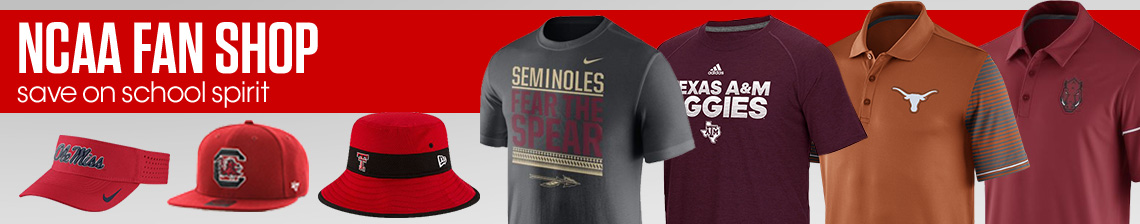 NCAA Fan Shop. Save on school spirit with great deals on polos, caps, and tees.