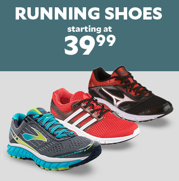 Running Shoes starting at $39.99