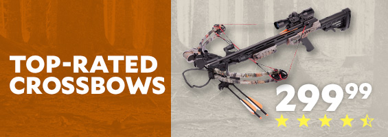 Top-Rated Crossbows. CenterPoint Sniper 370 Crossbow Package $299.99