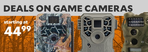 Deals on Game Cameras starting at $49.99.