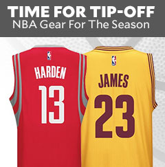 Time For Tip-off. NBA gear for the season.