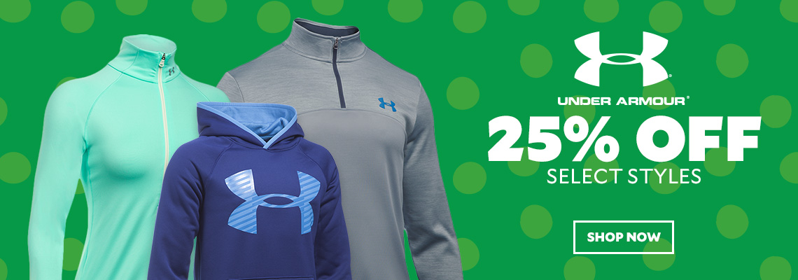 25% Off Select Under Armour