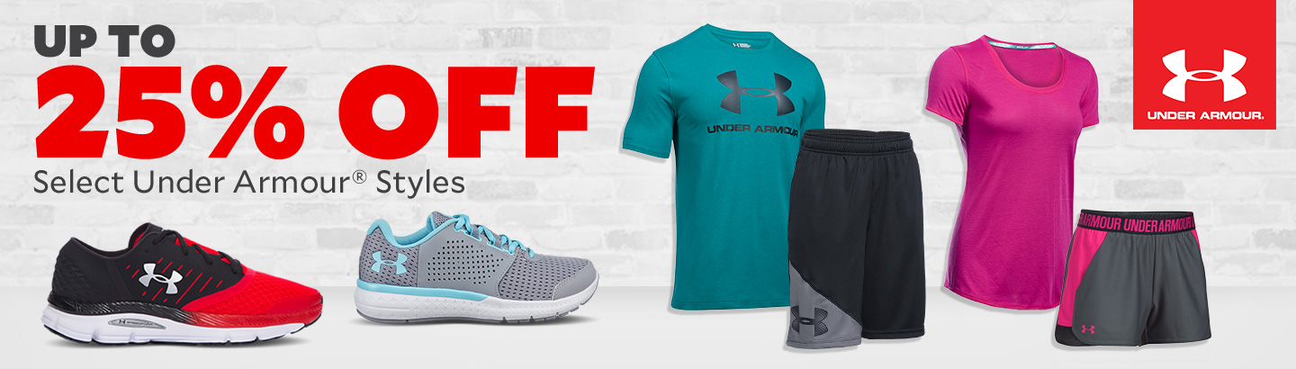 Up To 25% Off Select Under Armour Styles