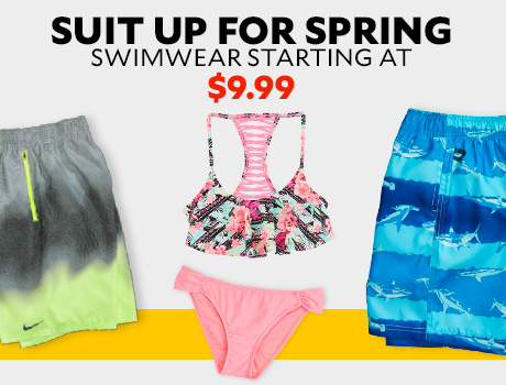Suit Up for Spring. Swimwear for the family.