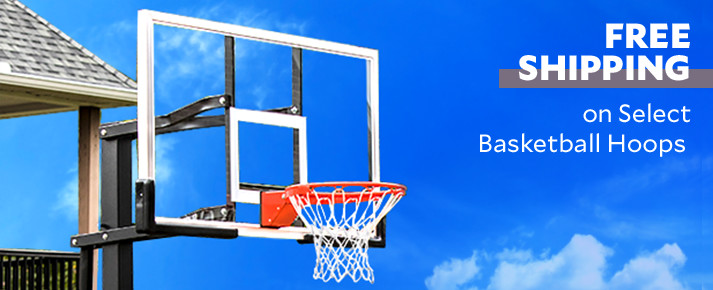 Free Shipping on Select Basketball Hoops