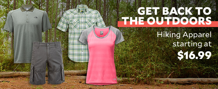 Get back to the Outdoors. Hiking Gear ti Take You There.