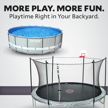 More Play. More Fun. Playtime right in your backyard.