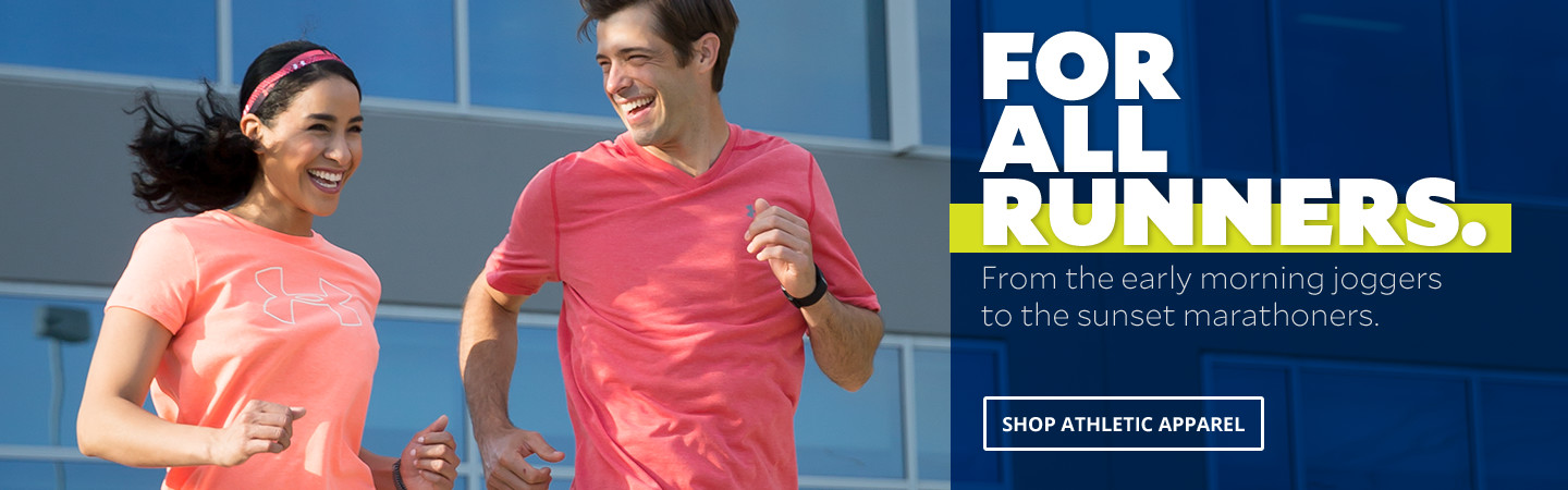 For All Runners. From the early morning jogger to the sunset marathoners. Shop athletic apparel.