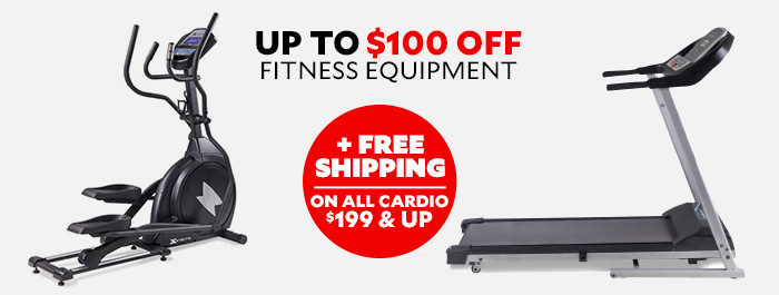 up to $80 Off Fitness Equipment plus Free Shipping on all cardio $199 and up