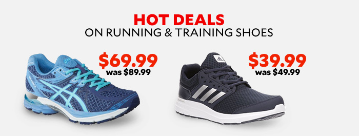 Hot Deals on Running and Training Shoes