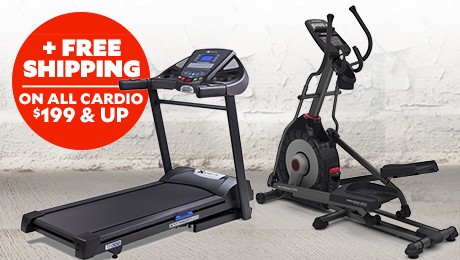 Free Shipping on All Cardio Equipment $199 and up