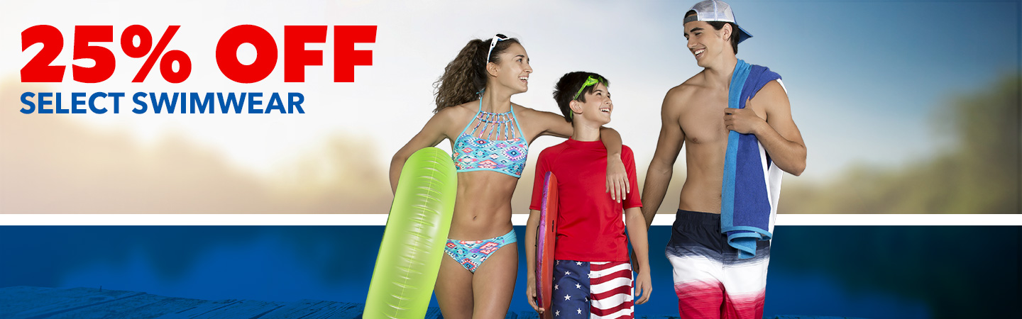 25% Off Select Swimwear for the Family