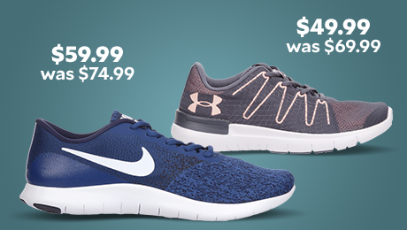 Under Armour Women's Thrill 3 running shoe was $69.99 now $49.99. Nike Men's Flex Contact running shoe was $74.99 now $59.99
