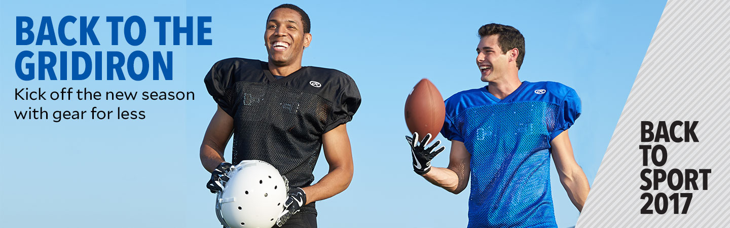 Back to The Gridiron. Kick off the new season with gear for less.