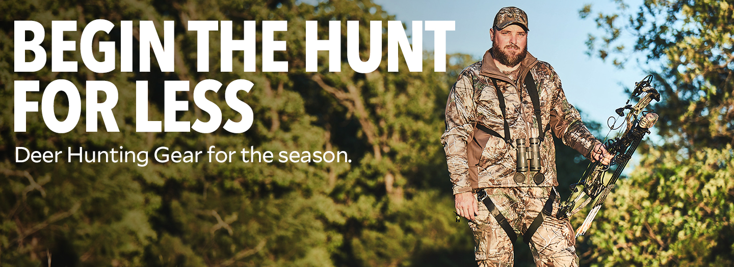 Begin The Hunt For Less. Deer Hunting Gear is in Sight.
