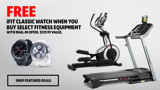 Free iFit Classic Watch When You Buy Select Fitness Equipment