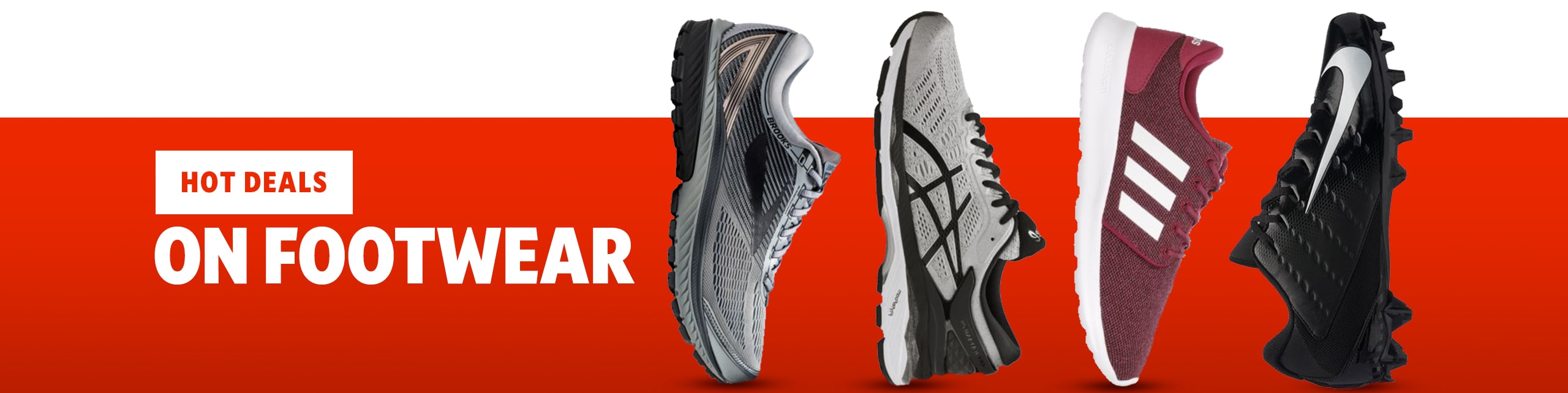 Hot Deals On footwear, Includes Top Brands Under Armour, Nike, and adidas.