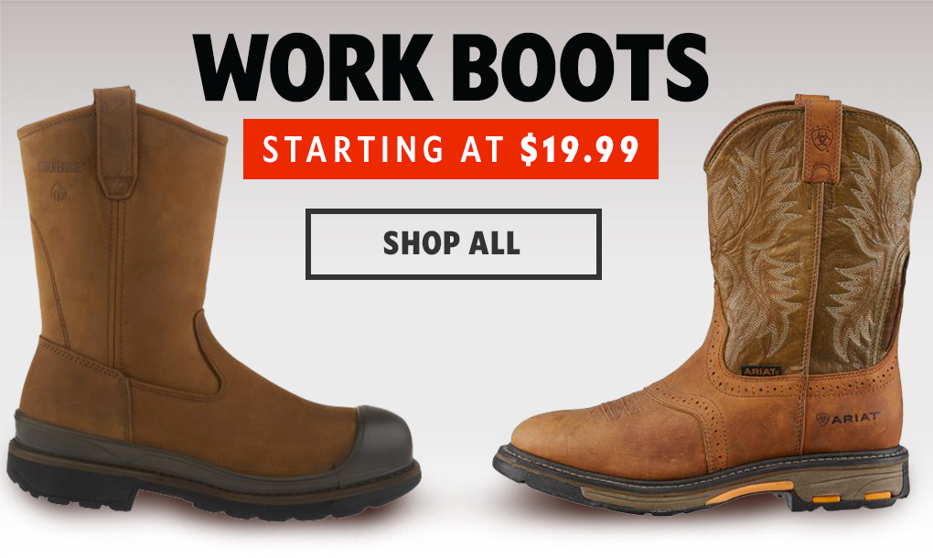 Works Boots Starting At $19.99, Shop All